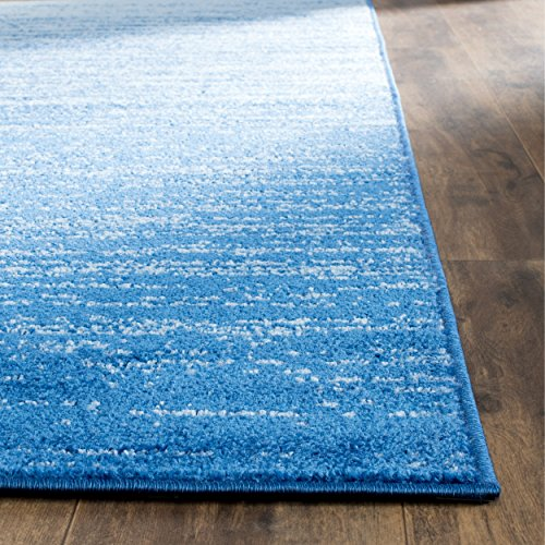 Safavieh Adirondack Collection ADR113F Light Blue and Dark Blue Modern Abstract Area Rug 6 x 9