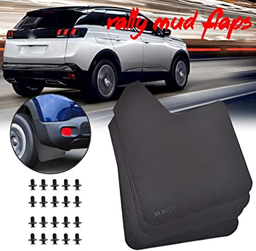 PEUGEOT Custom Car MUDFLAPS Contour Mud Flaps MOULDED for Rear