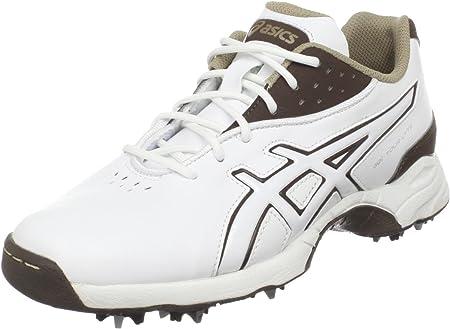 Asics Gel-Lyte recorrido de zapatos de golf, White/Coffee/Taupe, 42