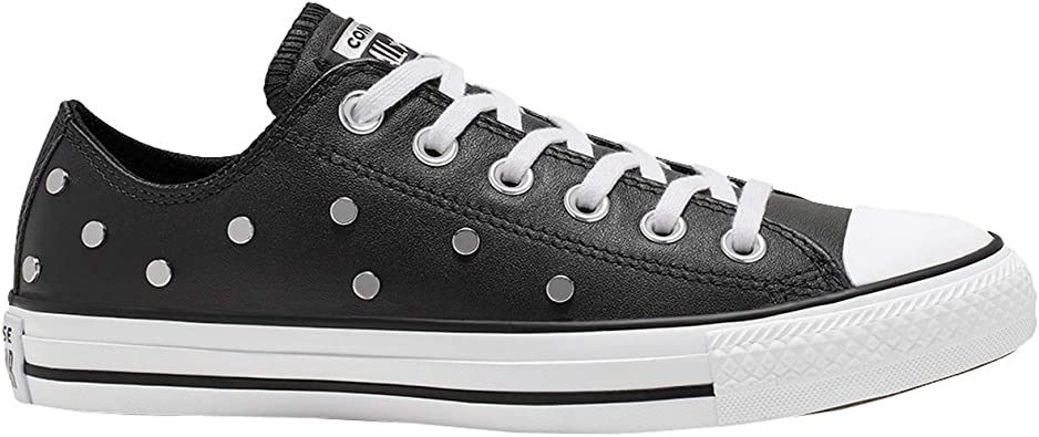 Converse Chuck Taylor All Star Leather Studs Ox Baskets Mode ...
