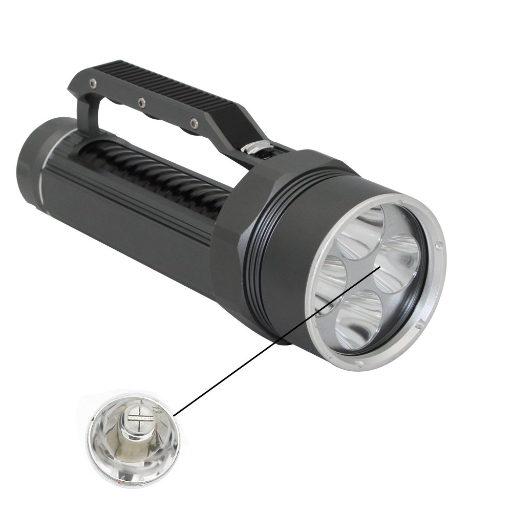 Professional Diving Flashlight Blacklight , KC Fire Ultra Bright 4000 Lumen Underwater 100 Meter, 395nm UV Ultraviolet Light, Batteries and Charger Included by KC Fire (Image #2)