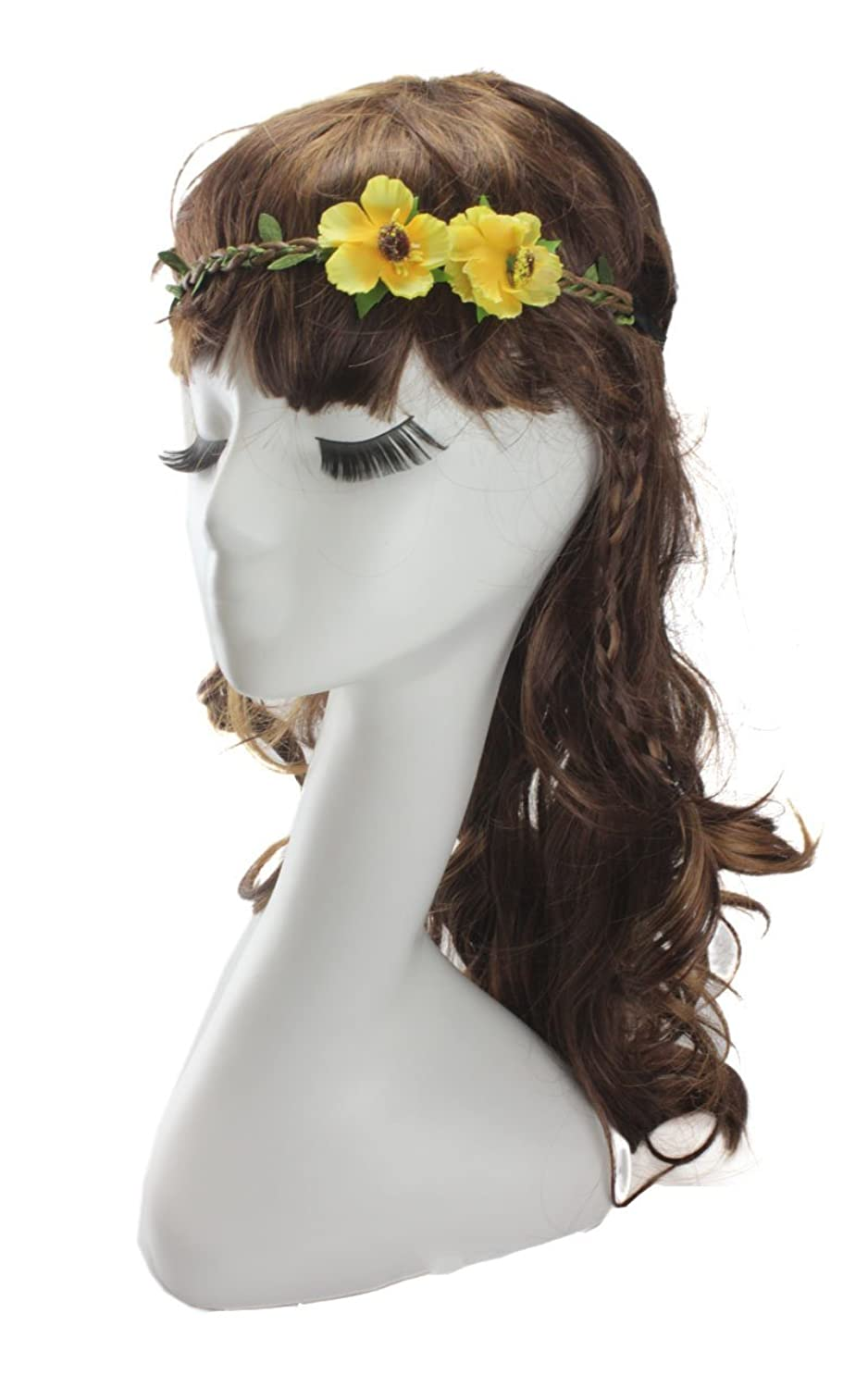 DreamLily Women's 2 Roses Wreath Headband Floral Party Crown HairWear BC03