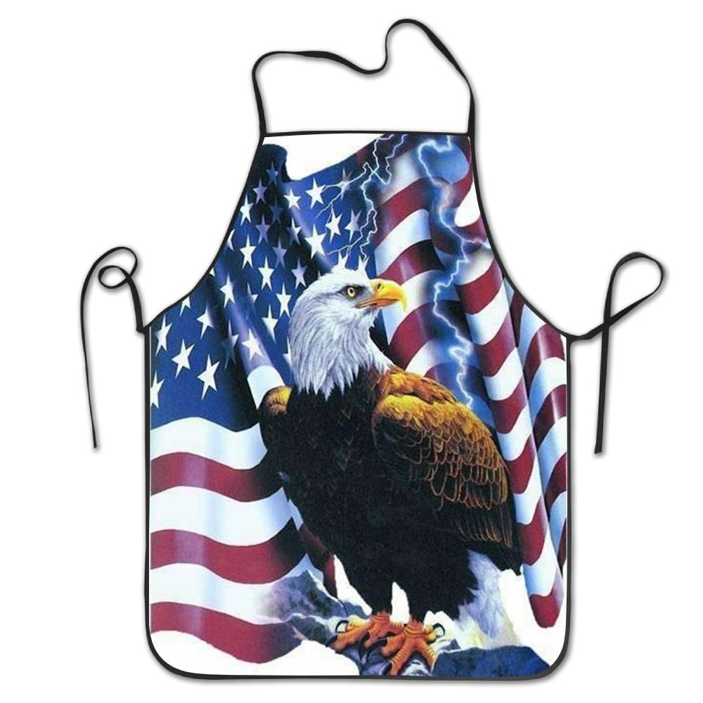 startoronto American Flag Eagle Aprons For Women/men Lightweight Grill Cooking Cooking Funny Chef Apron