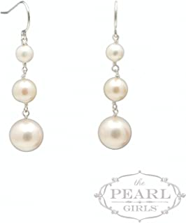 product image for Graduated 3-Pearl Earring