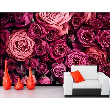 Amazon.com: hwhz Custom 3D Mural Roses Many Closeup Wine ...