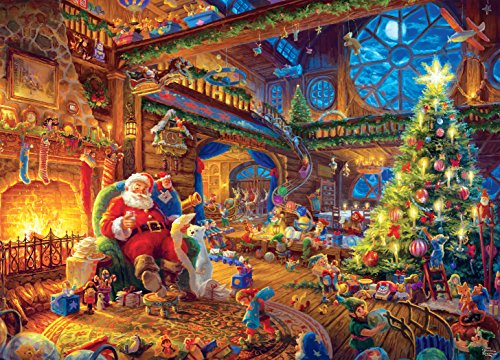 (Ceaco Thomas Kinkade -Santa's Workshop Puzzle - 1000 Pieces)