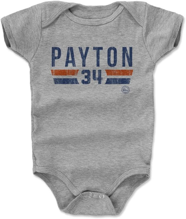 500 LEVEL Walter Payton Chicago Football Baby Clothes /& Onesie 3-24 Months Walter Payton Font