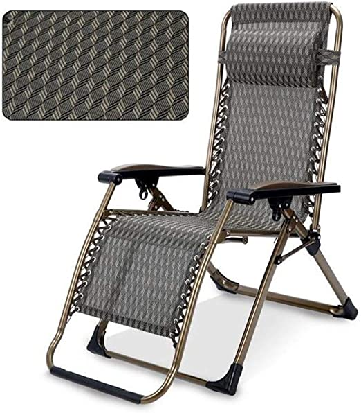 Mueble de jardín / Cómodas sillas for patio Silla reclinable plegable y reclinable al aire libre Silla