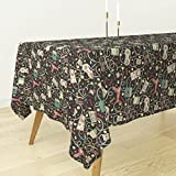 Roostery Tablecloth - Technology Gadgets Geek Retro Outdated Technology Gaming Nerdy by Teja Jamilla - Cotton Sateen Tablecloth 70 x 70