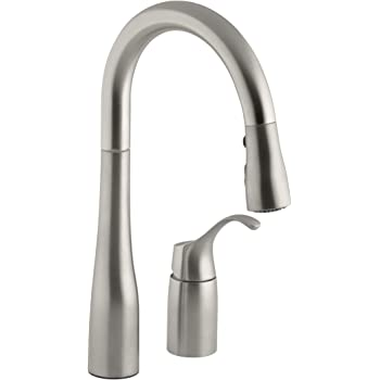 KOHLER K-649-VS Simplice Pull-Down Secondary Sink Faucet