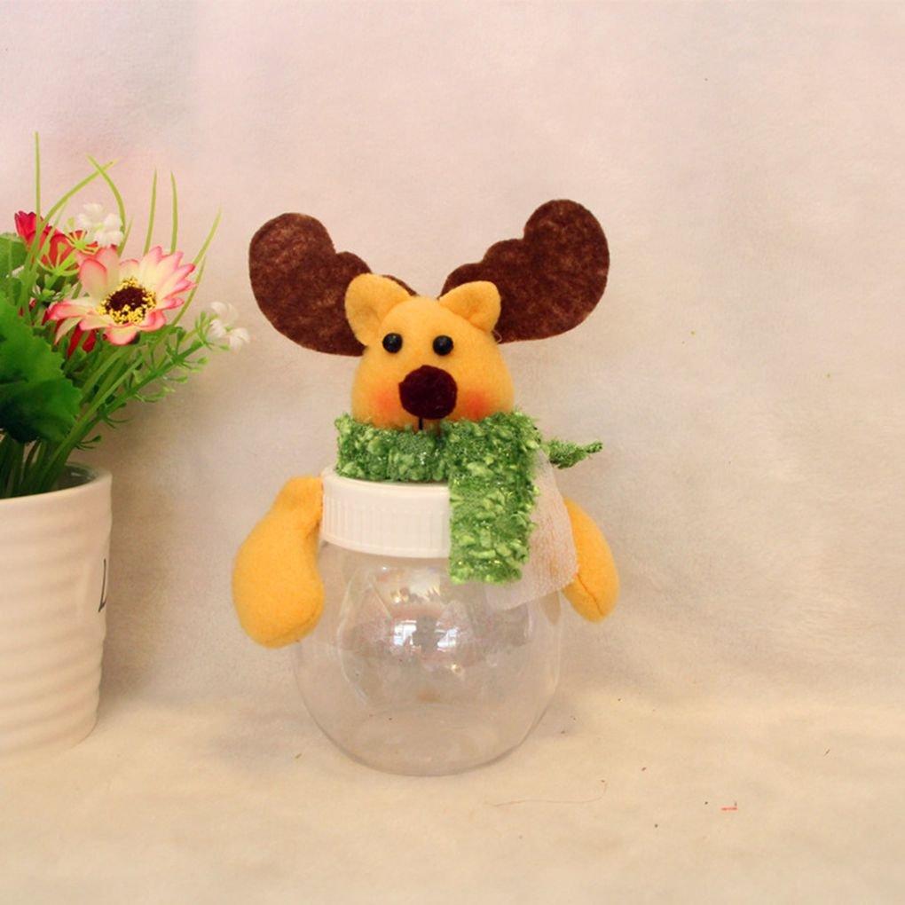 Xuanhemen Navidad Candy Jar Ronda Pentagonal Almacenamiento Latas Decoraciones de Navidad Botellas Regalos de Navidad: Amazon.es: Hogar