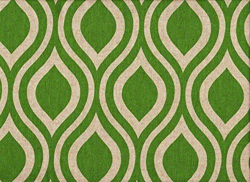 Nicole Green Beige Geometric Tailored King Shams Pair, Lined Cotton