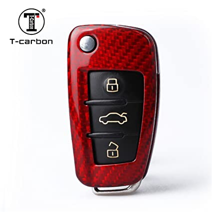 0bfd4dfe1ca9ae MissBlue Carbon Fiber Key Fob Cover for Audi Key Fob Remote Key, Fits Audi  A1
