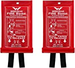 W WIREGEAR Fire Blanket Made of Fiberglass Convenient Durable and Economical