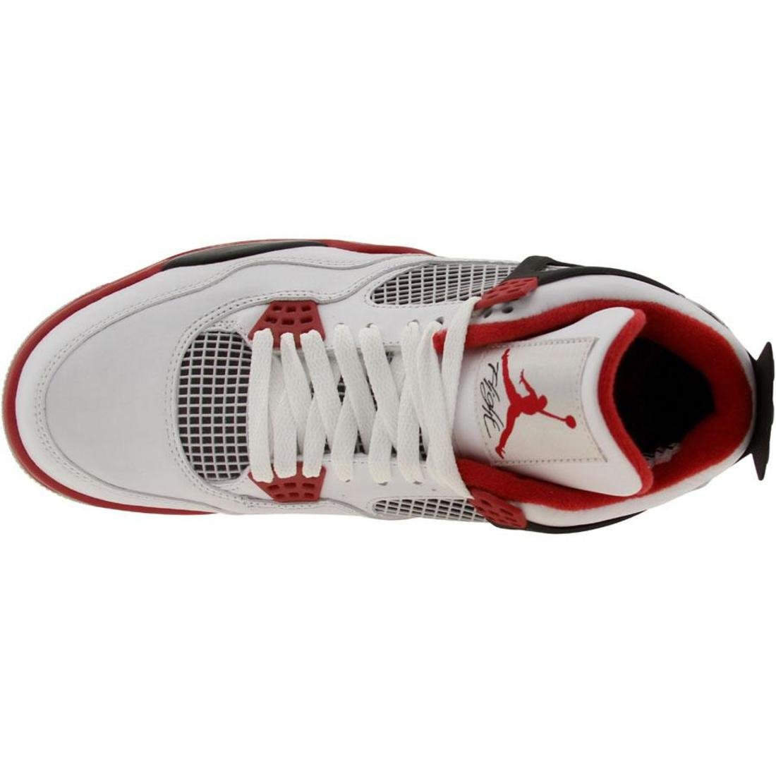c09c4de94a905 Galleon - Air Jordan 4 Retro Man Sneakers In White/Varsity Red/Black ...