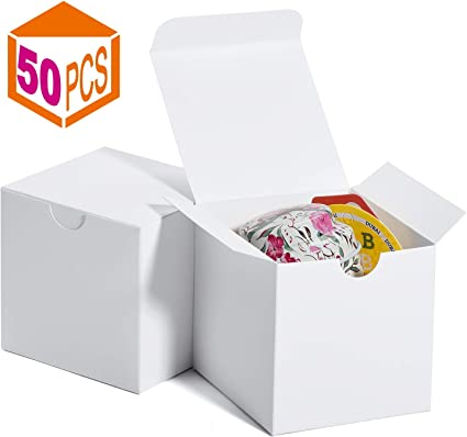 Cajas de regalo 7.6x7.6x7.6cm, cajas de papel blanco con tapas ...