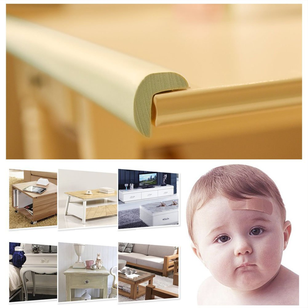 Blue Safety Corner Protectors Guards /& Edge Set Augola Table Corner Guards for Child and Baby Proofing 6.56Ft Edge Guard 4Pcs Corner Guard with Strong Adhesive