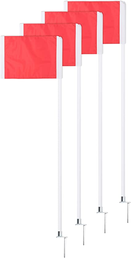 Soccer Equipment for Training Soccer Flags /& Poles Get Out! Corner Flags for Soccer Field 4pk and//Or Duffel Bag