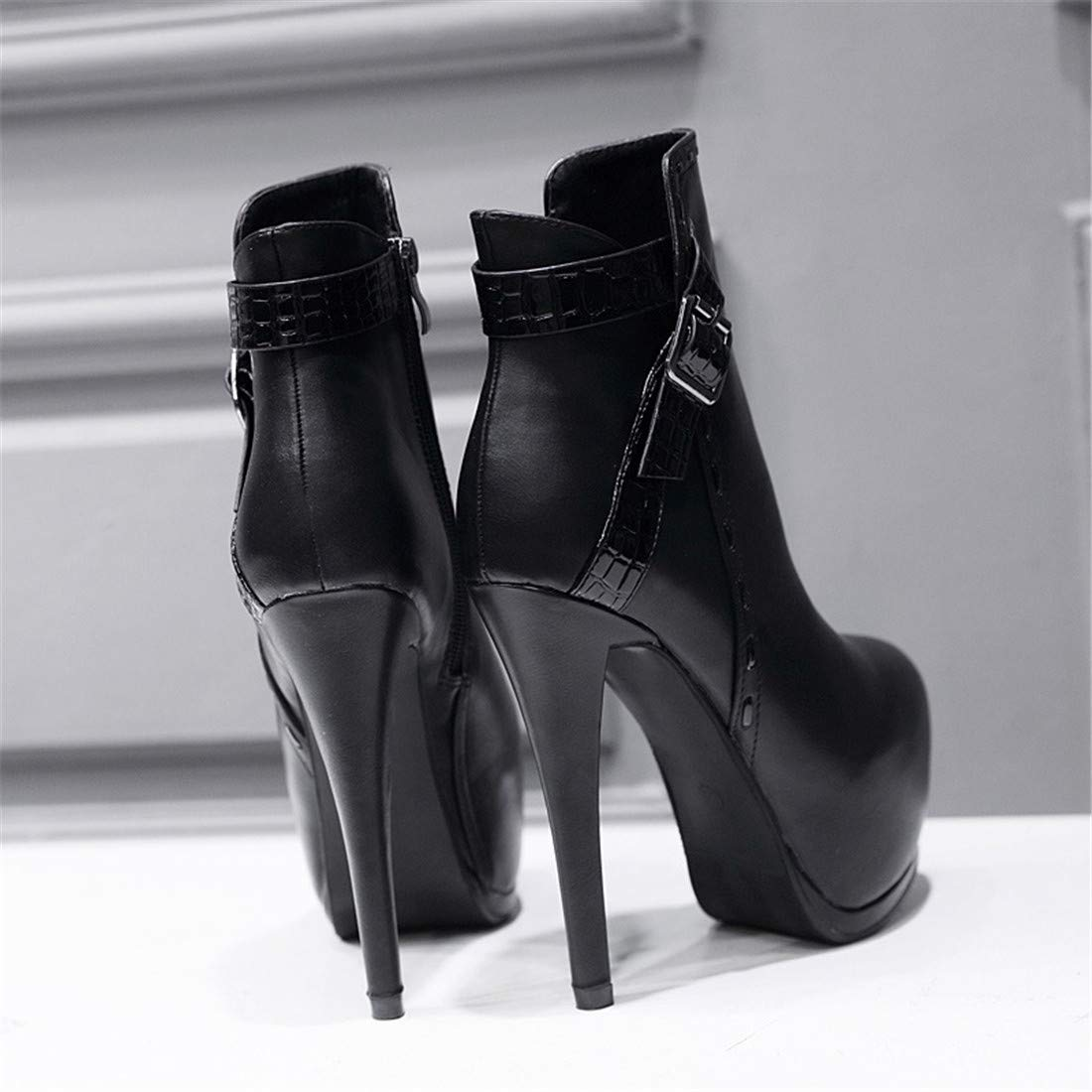 Stiefel & & & Stiefeletten, Martin Stiefel für FrauenEuropa und die Vereinigten Staaten Mode High Heel Stiefel  Hammer Stiefel High Heel Plattform Wasserdichte Stiefel b1e8aa