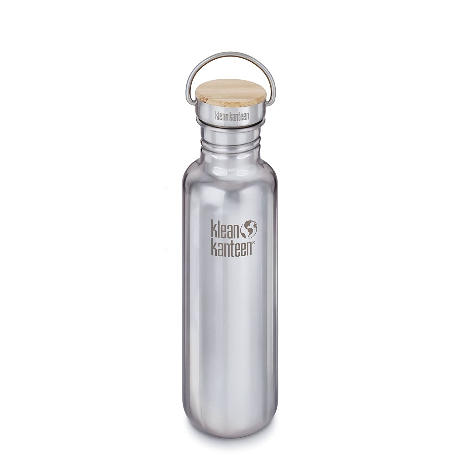 96e3c74929c Amazon.com   Klean Kanteen Reflect Single Wall Stainless Steel Plastic Free Water  Bottle with Stainless Steel and Bamboo Cap