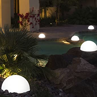 2 x luminaire solaire Á LED boule terrasse jardin hémisphère ...