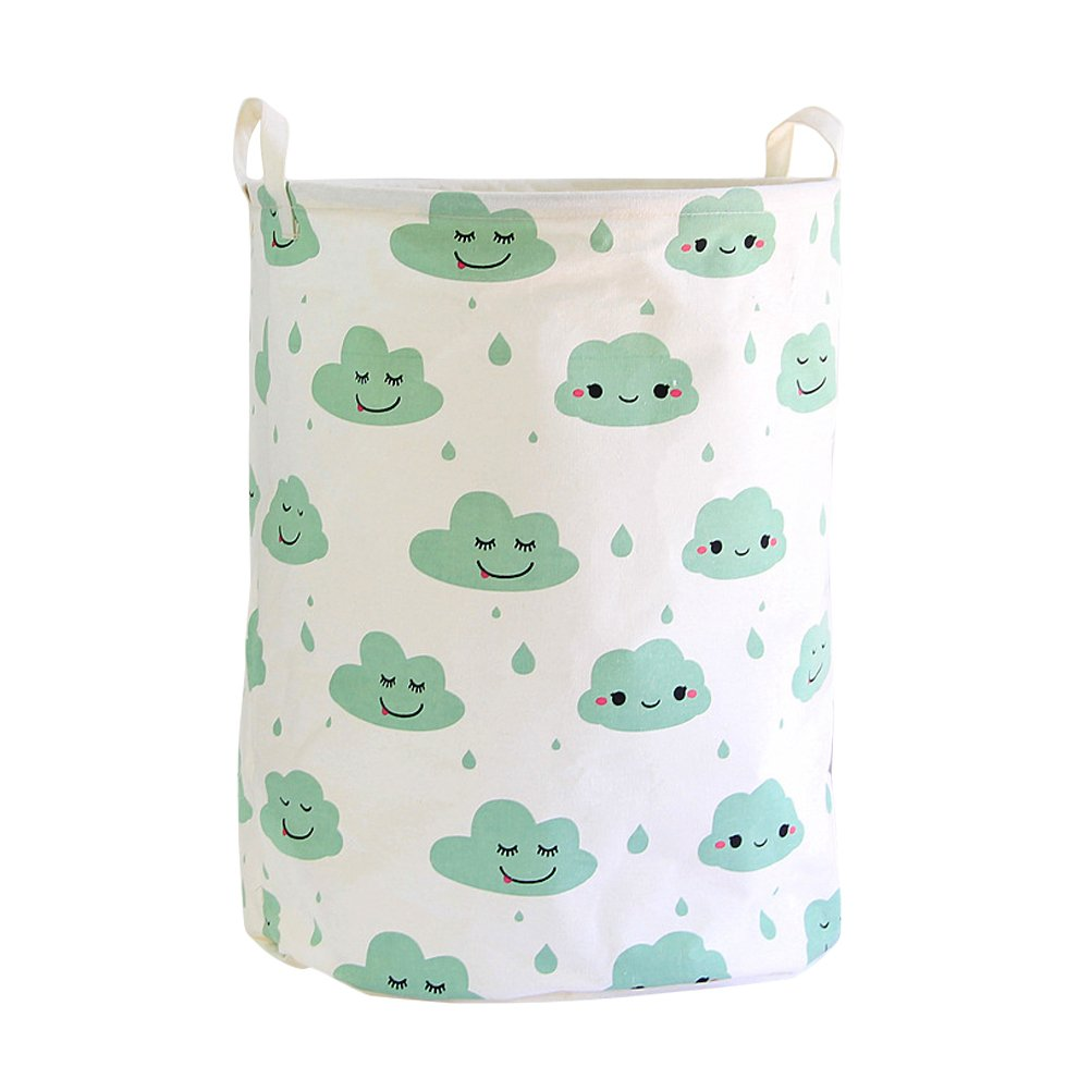Fieans Large Cotton Baby Storage Basket Foldable Dirty ...