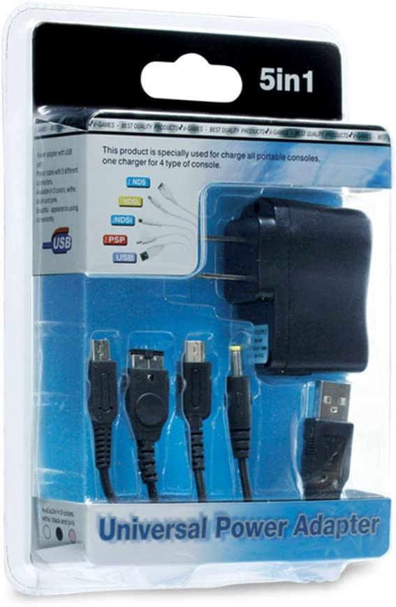 Amazon.com: 5-in-1 Universal Power Adapter for 2DS/ DSi/ DS ...