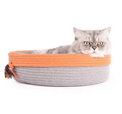 QZX Nido de Gato Mascota Cama para Mascotas Plegable y Lavable Transpirable y Acogedor Cuerda de ...