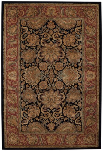 Capel Rugs Forest Park-Agra Rectangle Hand Tufted Area Rug, 9 x 13', Onyx