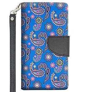 LG Magna Wallet Case - Paisley Pastel on Blue