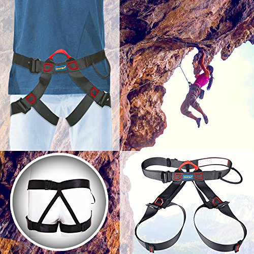 Climbing Harness, Safe Seat Belts For Mountaineering Outward Band Fire Rescue Higher Level Caving Rock Climbing Rappelling Equip, Half Body Guide Harness