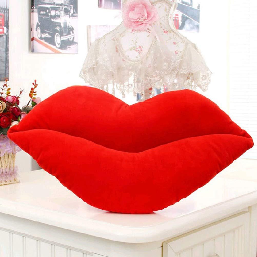 Amazon.com: Vosarea Home Decorative Pillow red Lips Shaped ...