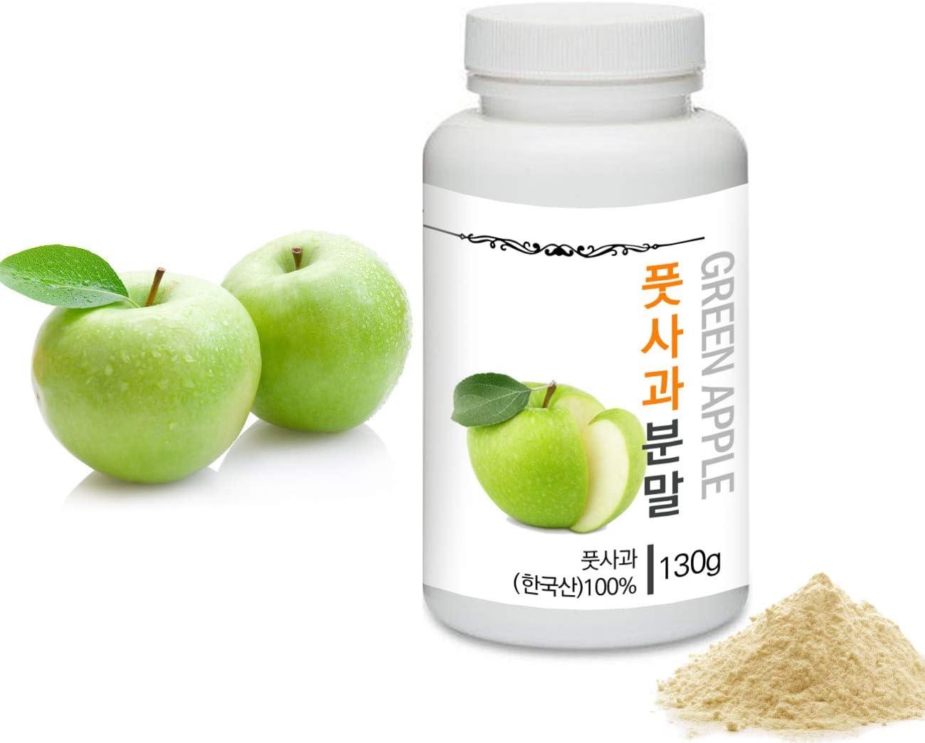 [Medicinal Herbal Powder] Prince Natural Green Apple Powder/??? ?????, 4.6oz / 130g (Green Apple/? ??)