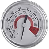"Anself F & C 2.25 ""in acciaio inossidabile BBQ Smoker Pit Grill Termometro Temp Gauge con Dual Gage 300 ° C"
