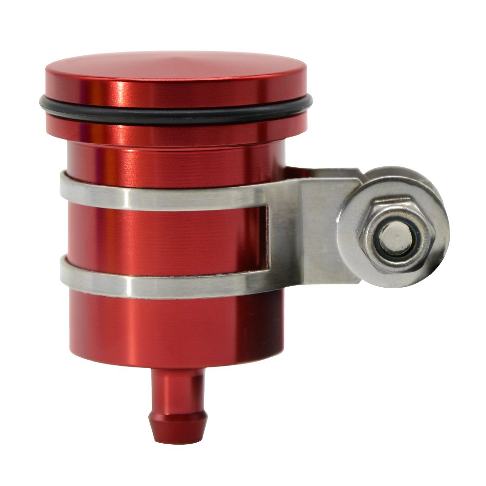 CNC Aluminum Oil Cup Front or Rear Brake Fluid Reservoir For Yamaha FZ01 FZ03 FZ07 FZ09 FZ10 YZF R1 R3 R6 R25 R15 R125 Kawasaki Z250 Z650 Z750/R/RR Z800 Z900 Z1000/sx (Black) LQMY LTD