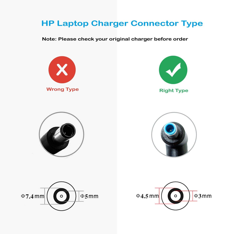 4.5 FSKE Alimentation Ordinateur Portable pour HP 19.5V 3.33A 65W Chargeur Adaptateur Connecteur 3.0mm