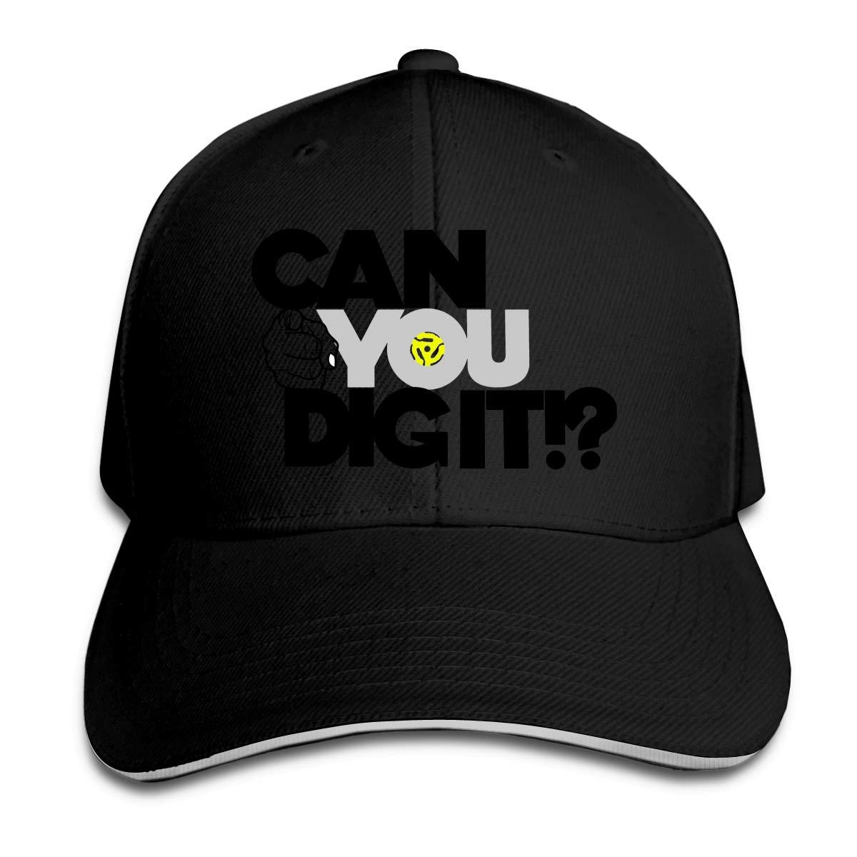 Can You Dig It Unisex Adult Baseball Caps Adjustable Sandwich Caps Jeans Caps Adjustable Denim Trucker Cap