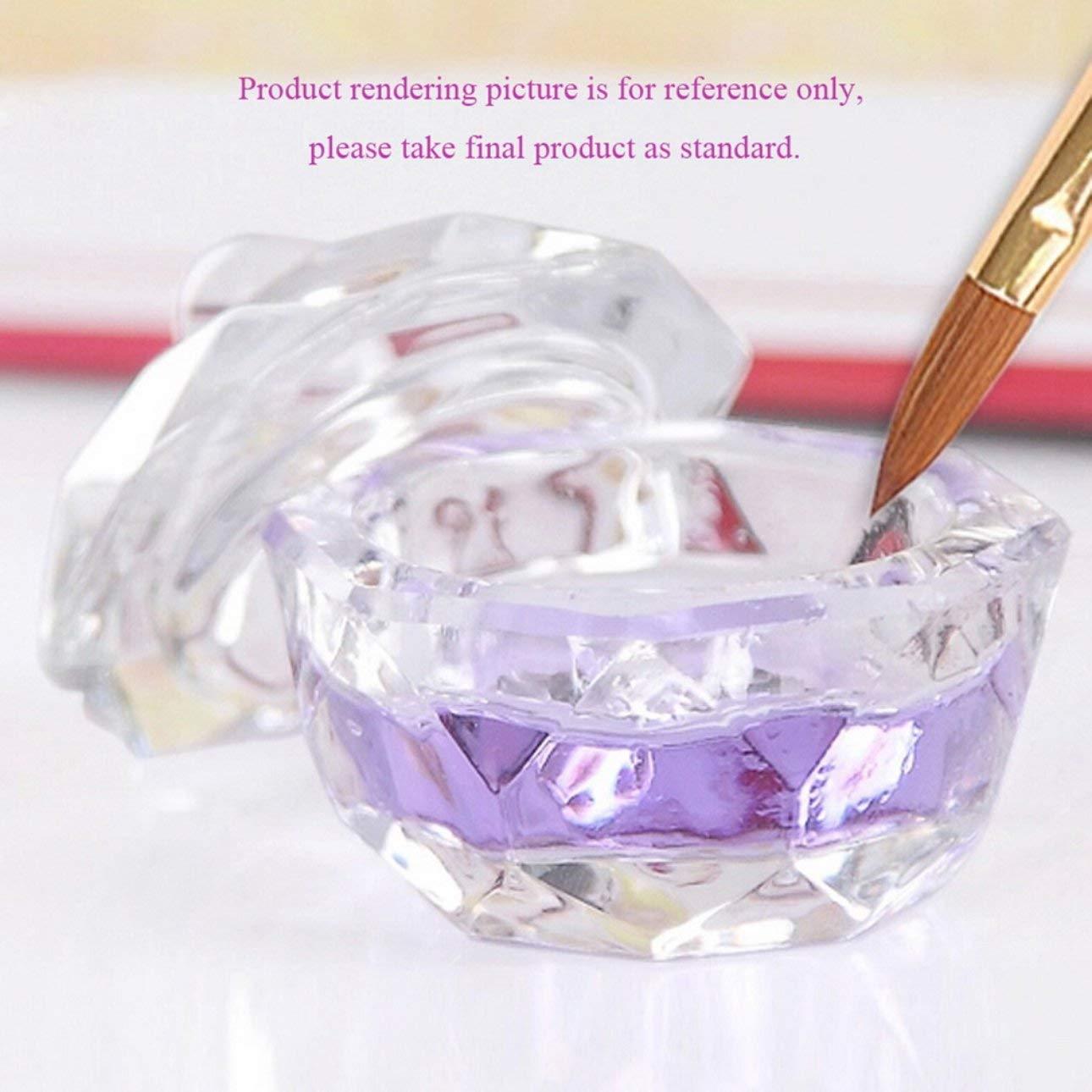 Ballylelly Nuevo arte del clavo de acrí lico cristal de vidrio Dappen tazó n vaso transparente Herramientas de uñ as