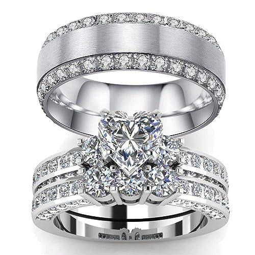 c6deaa578b2c Los 7 mejores sets de anillos de boda que puedes conseguir en Amazon ...