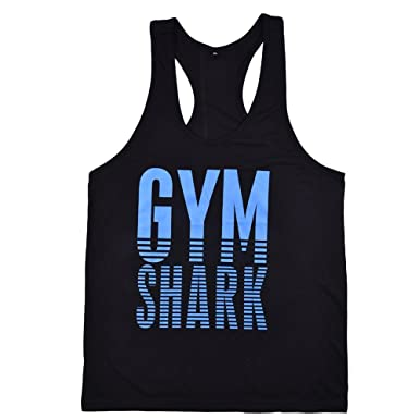 8436ce10 YYF Men Gym Bodybuilding Tank Tops Vest Stringer Fitness Shirts Sports  Cloth: Amazon.co.uk: Clothing