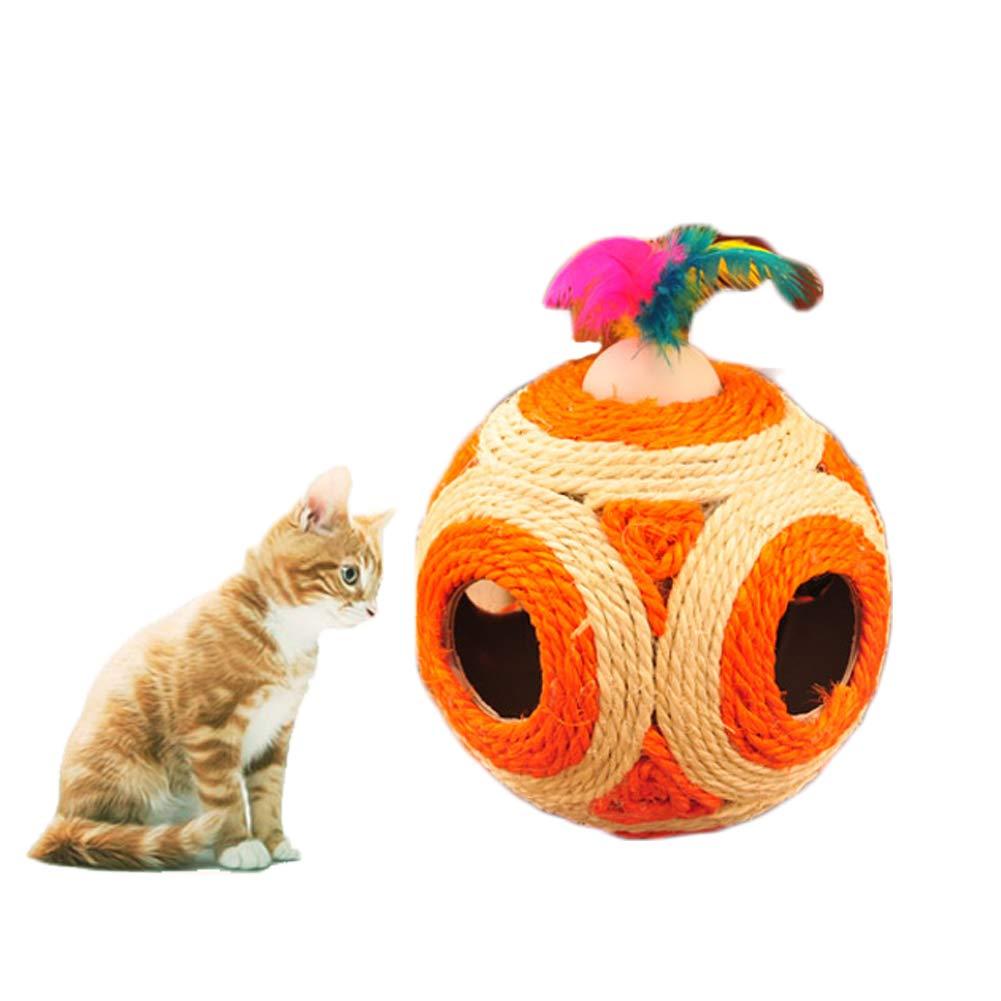 Cat Scratch Board, Natural Hemp Large Six-Hole Spherical Funny Cat Toy