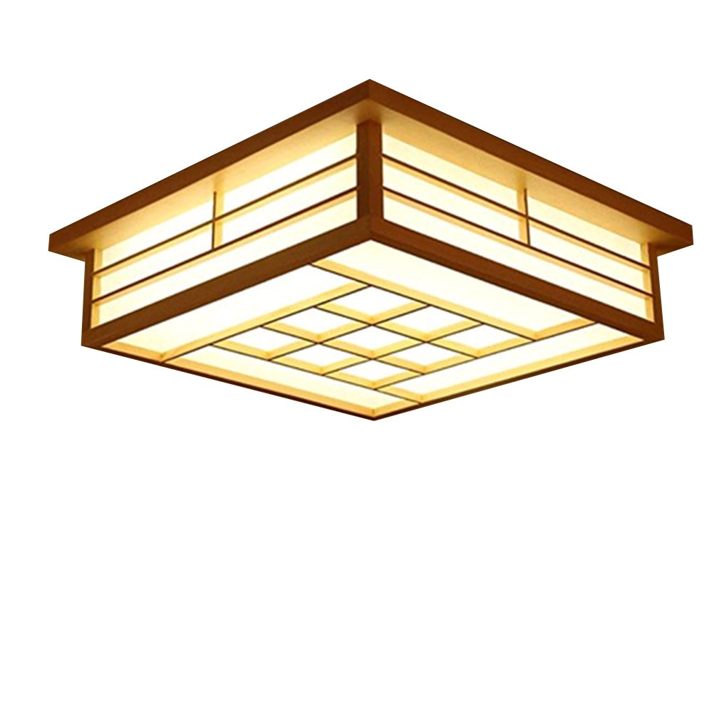 Gqlb Japanese Ceiling Light Led Tatami Lamp 45 45 12cm Wooden Bedroom Lamp Pastoral Wind Lamp Remote Remote Control Room Light Warm Light Energy Class A Buy Online In India