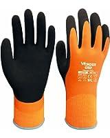 Wonder Grip Paire de gants à double épaisseur en latex résistant au froid et à l'eau Idéal pour l'hiver