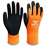 boutique1583 Safe Cold-proof Winter Protection Double Layer Wonder Grip Latex Gloves Water-proof Glove