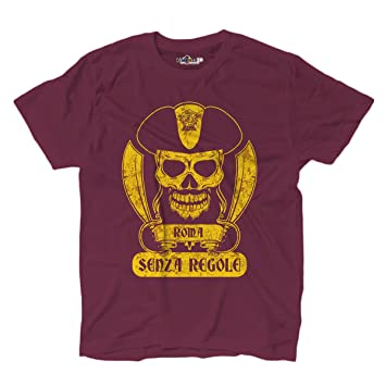 Camiseta de fútbol para hombre, con dibujo de los hinchas piratas del AS Roma,