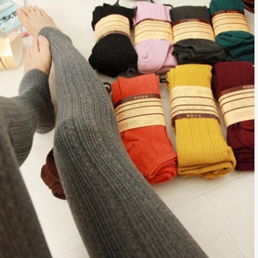 Yinew Mädchen Strümpfe Dicken Baumwolle und Leinen Pedal Hosen unteren Socken Reine Farbe Candy Farbe