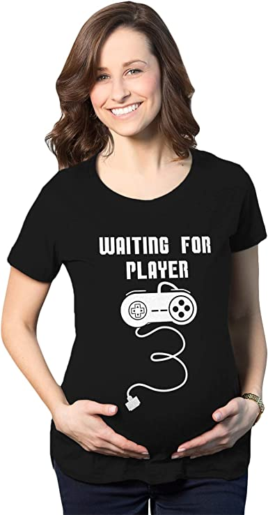 Maternity Waiting For Player 3 Funny Im Pregnant Shirt Announce Pregnancy Gamer