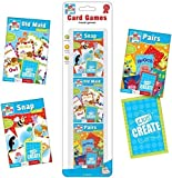 SET OF 3 PACKS CHILDRENS ASSORTED CLASSIC CARD GAMES SNAP PAIRS OLD MAID