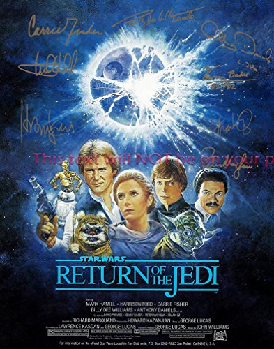 Star Wars Episode VI - Return of the Jedi Autographed 11x14 Poster Photo