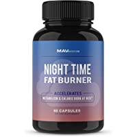 MAV Nutrition Weight Loss Pills Night Time Fat Burner for Women & Men | Sleep Aid Diet Pills, Appetite Suppressant…